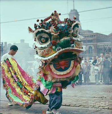 Photograph - Lion Dance by Vintage Photography