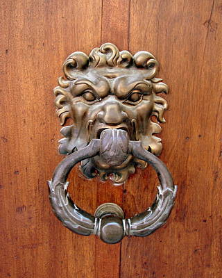 Photograph - Lion Door Knocker by Ramona Johnston