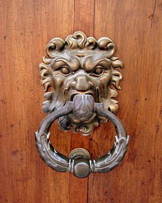 Photograph - Lion Door Knocker by Ramona Johnston