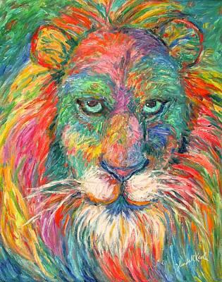 Lion Explosion Art Print