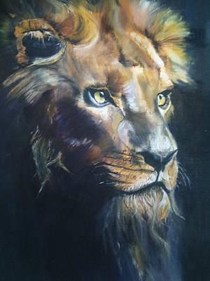 Lion Eyes 2012 Original by Harlene Bernstein