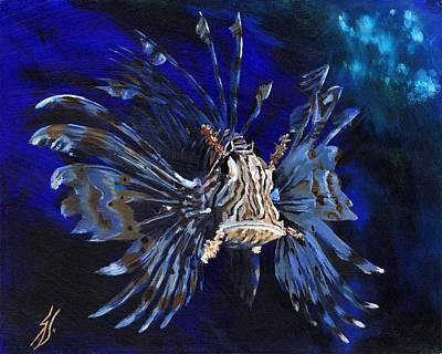Fish Painting - Lion Fish by Sarah Nettesheim