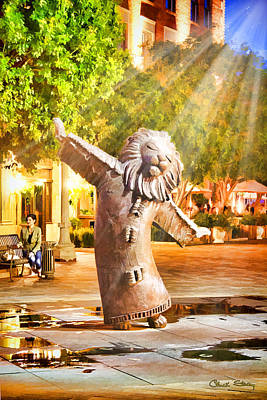 Photograph - Lion Fountain by Chuck Staley