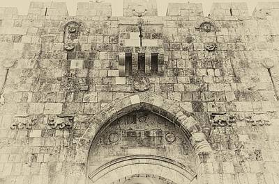 Photograph - Lion Gate Jerusalem Old City Israel by Mark Fuller