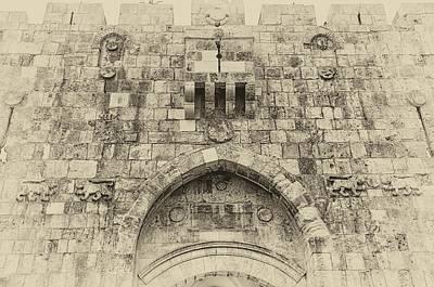 Airplane Paintings - Lion Gate Jerusalem Old City Israel by Mark Fuller