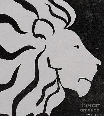 Painting - Lion Graphic King Of Beasts by M C Sturman