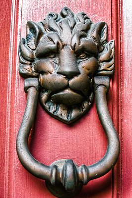 Photograph - Lion Head Door Knocker by E Karl Braun