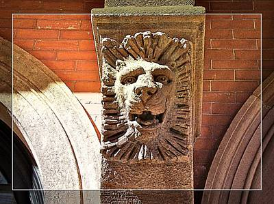 Photograph - Lion In The Brick by Alice Gipson