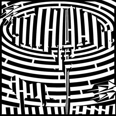 Op Art Mixed Media - Lion In The Shade Maze by Yonatan Frimer Maze Artist