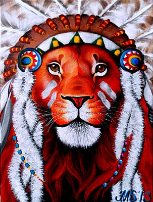 The Tiger Painting - Lion Inside Of Me by Marina Joy