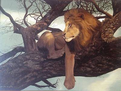 Painting - Lion by Jeannette Tramontano