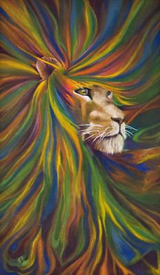 Lion Art Print by Kd Neeley