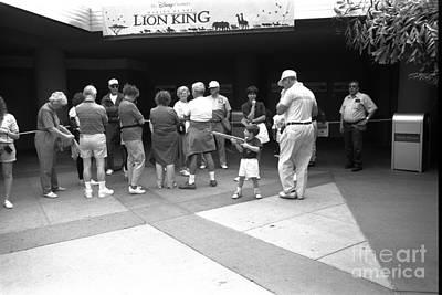Photograph - Lion King Disney World Florida Circ 1995 by Edward Fielding