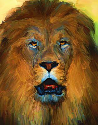 House Pet Digital Art - Lion King by Yury Malkov