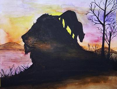 Painting - Lion by Laneea Tolley