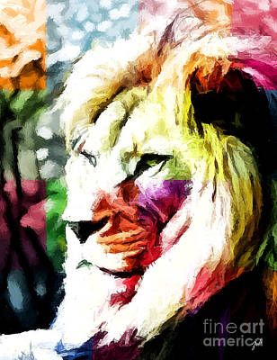 Lion - Leone Art Print by Ze  Di
