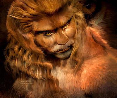 Lion Man Art Print by Carol Cavalaris