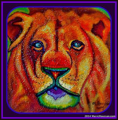 Animal Watercolors Juan Bosco - Lion by MarvL Roussan