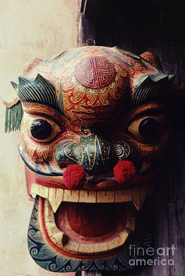 Paper Mache Photograph - Lion Mask For Chinese New Year by Anna Lisa Yoder