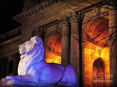 Lion Nyc Public Library Art Print