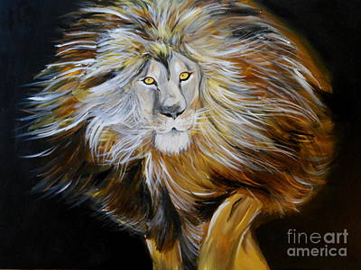 Art Print featuring the painting Lion Of Judah by Amanda Dinan