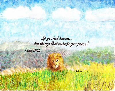 Saldana Painting - Lion Of Judah by Catherine Saldana