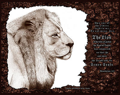 Yeshua Mixed Media - Lion Of Judah by Christopher Korte