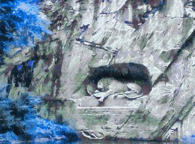 Lion Of Lucerne Art Print by Dan Sproul