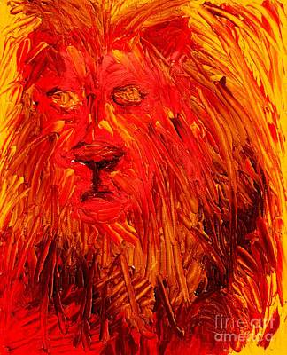Painting - Lion Of The Tribe Of Judah by Richard W Linford