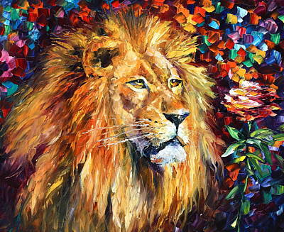 Judaic Painting - Lion by Leonid Afremov