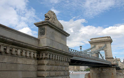 Photograph - Lion On Chain Bridge by Caroline Stella