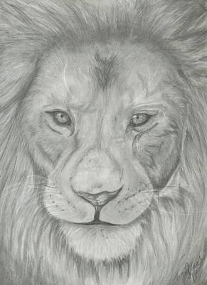 Lion Art Print by Raquel Ventura