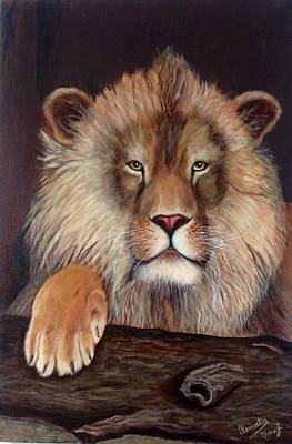 Painting - Lion by Renate Voigt