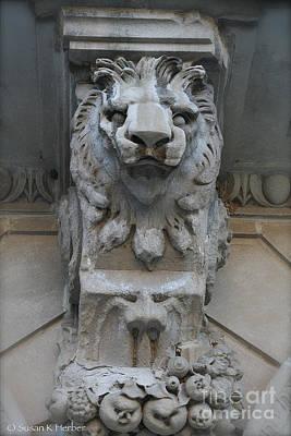 Photograph - Lion Sculpture by Susan Herber