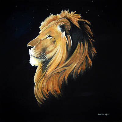 Stacey Painting - Lion by Stacey Clarke