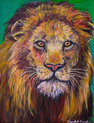 Painting - Lion Stare by Kendall Kessler