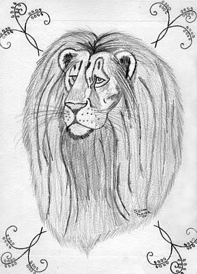 Drawing - Lion by Susan Turner Soulis