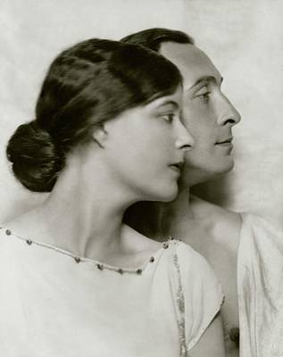 Lionel Atwill And Elsie Mackey Art Print by Nickolas Muray