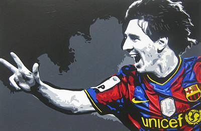 Lionel Messi - Barcelona Fc 3 Print by Geo Thomson