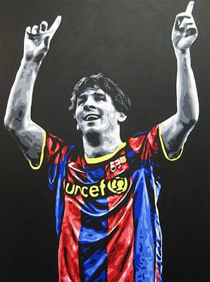 Lionel Messi - Barcelona Fc 4 Print by Geo Thomson