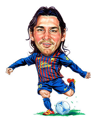 Sports Paintings - Lionel Messi by Art