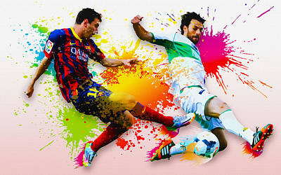 Lionel Messi Of Fc Barcelona Art Print