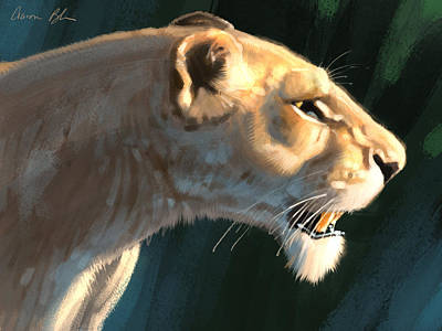 Digital Art - Lioness by Aaron Blaise