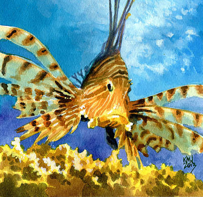 Exotic Fish Painting - Lionfish by Ken Meyer jr