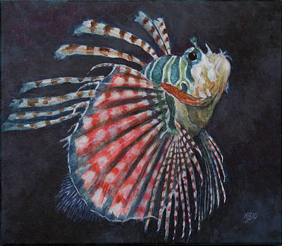 Lionfish Painting - Lionfish by Michael Beckett