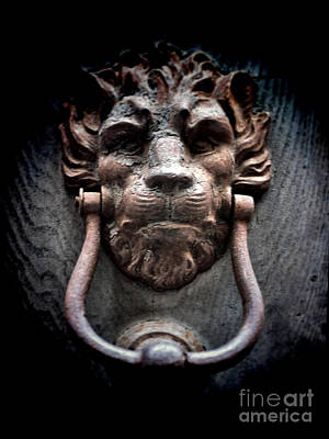 Photograph - Lionman Knocker by Karen Lewis