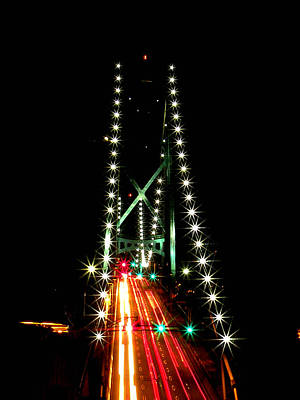 Photograph - Lion's Gate Bridge Vancouver by Brian Chase