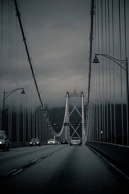 Photograph - Lions Gate Bridge Vancouver by Eti Reid