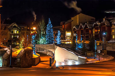 Lions Head Village Vail Colorado Art Print
