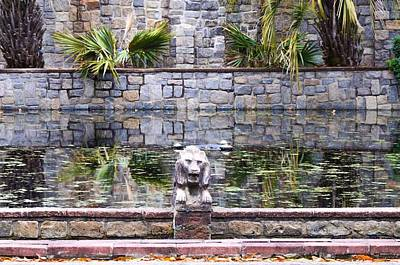 Lions In The Renaissance Court Fountain 2 Art Print